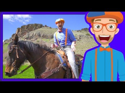 A Day On The Ranch for Kids Blippi Axe Family Videos for Children