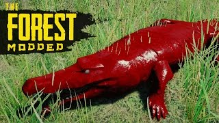 FARMING CROCODILES! The Forest Modded S2 Episode 51