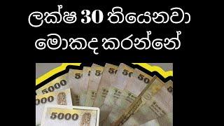 ලක්ෂ 30 තියෙනවා මොකද කරන්නේ -What to with my money invest or save