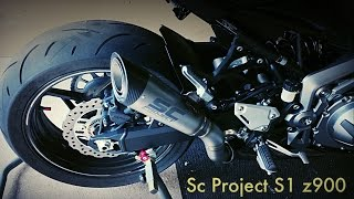 SC PROJECT S1 z900 exhaust sound !