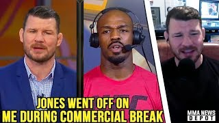 Bisping: Jones cúrsed me out Off-Air for asking PEDs question; Cormier on Jones being champ; Dana