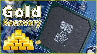 Gold Recovery From Graphic Ic Chips Lower Part. Scrap Gold Recovery By Umar Iqbal