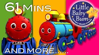 Color Train Song | Plus Lots More Nursery Rhymes | 61 Minutes Compilation from LittleBabyBum!