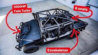 BUILDING EXOSKELETON 6 PASSANGER 1000HP HUMMER H!? *VOTE IN COMMENT*