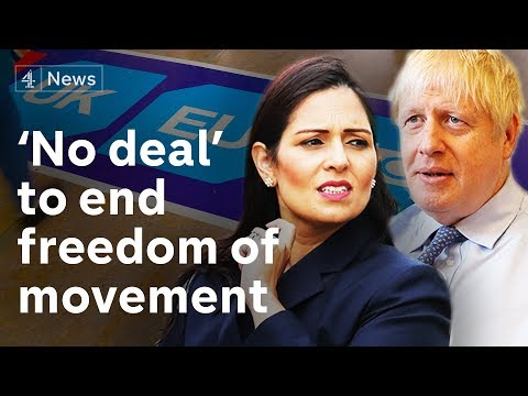 """EU freedom of movement """"will end"""" onday one of no deal Brexit"""
