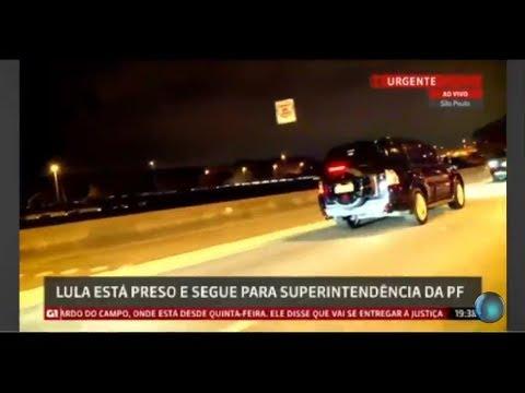 GLOBO NEWS AO VIVO - LULA É PRESO PELA POLÍCIA FEDERAL