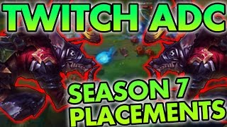 GETTING CARRIED BY THRESH? TWITCH ADC (SEASON 7 PLACEMENTS) - League of Legends Commentary