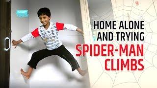 Kid Doing Spider Man Wall Climbs