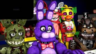 Springtrap bonnie whither foxy toy Chica nightmare Freddy react to sister location trailer