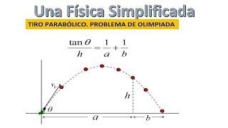 TIRO PARABÓLICO. PROBLEMA DE OLIMPIADA DE FÍSICA