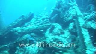 Shipwreck diving in India