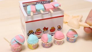 Cooking Puchi Food Ice Cream Set Konapun or Miniature Fake Food?