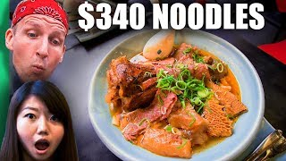 $3 Noodles VS $340 Noodles! (WORLD RECORD Breaking Bowl of Noodles!)