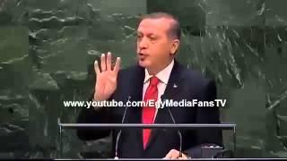 اردوغان يقهر السيسى ويرفع فى وجهه اشارة رابعة فى الامم المتحدة