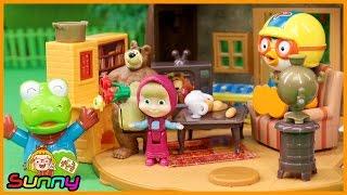 장난감TV 마샤와 곰 연극 관람 놀이 장난감 애니메이션 동영상 Doll Animation