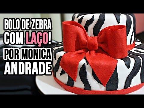 Passo a passo Bolo de Zebra com Laço Por Mônica Andrade