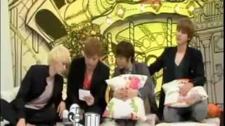 110829 Super Junior Donghae Eunhyuk Kyuhyun Shindong at Hello Recording