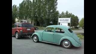 Towing a   VW Beetle 420 KM From Delta B.C. to 100 mile house