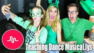Teaching Dance Musical.lys to Rebecca Zamolo and Matt Slays