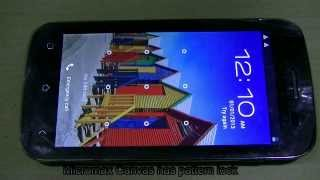Unlock pattern lock of Micromax Canvas smartphone