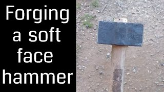 Forging a Soft Face Hammer (Blacksmith Forging a Hammer)