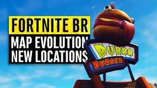 Fortnite | Map Evolution (New Locations & Secret Map Updates)  Patch 7.30