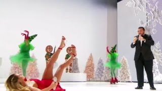 OOOPS: Heidi Clum Slips & Falls on LIVE TV During Performance | America's Got Talent Holiday Show