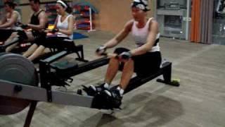 Gimnasio ARO. Remo indoor. Mi entrenamiento 1 de Mayo 2009