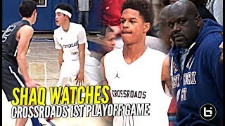 Shaq Watches Shareef, Yuuki & DJ BALL OUT! Shareef Wearing KOBE PE's in First Playoff Game!!
