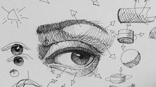 Pen & Ink Drawing Tutorials | How to draw a realistic eye Part 2