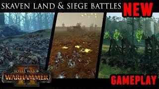 Total War: Warhammer 2 - Skaven Land and Siege Battles Gameplay (Cinematic)