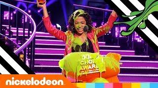 Liza Koshy's Dream Comes True: SLIMED While Winning A BLIMP! 💚 | Kids' Choice Awards 2018 | Nick