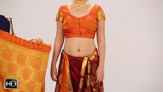How To Wear A Saree In 2 Mins – Indian Style Silk Saree For Wedding