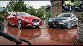 2016 Alfa Romeo Giulia vs Jaguar XE [COMPARATIF VIDEO] : les chaînons manquants