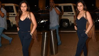 SPOTTED: Rani Mukherji with Family at the Airport | SpotboyE