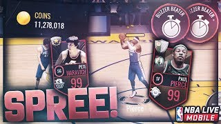 12 MILLION COINS SPREE ON TWO 99 OVERALLS! NEW 101 OVERALL BIG MAN LINEUP GAMEPLAY! NBA Live Mobile