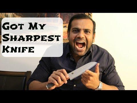 Got My Sharpest Knife - MIYABI 5000 MCD 67 Black Santoku Knife