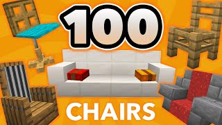 100 Minecraft Chair Ideas (How to Build Furniture Designs in Minecraft)