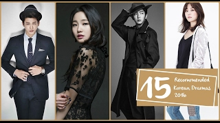 15 Recommended Korean Dramas 2016