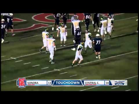 Sonora TD, QB #5 Sam Page to WR #4 Kahale Warring on the 21 yard fade