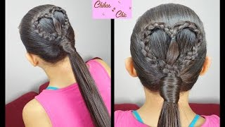 Heart Ponytail (Quick and Easy) | Valentine's day Hairstyles | Chikas Chic