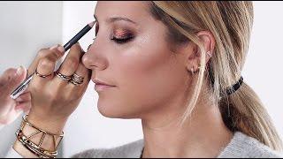 Golden Bronze Makeup Tutorial on Ashley Tisdale | 2016
