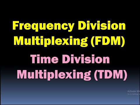 Frequency Division Multiplexing (FDM) and Time Division Multiplexing (TDM)/FDM and TDM Multiplexing