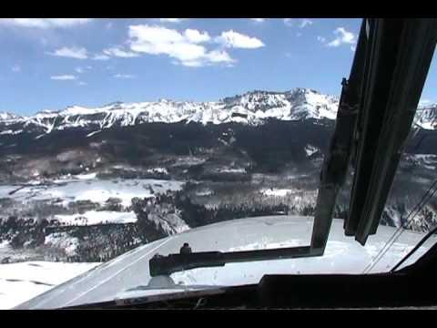 Cheyenne 400LS Landing in Telluride Colorado