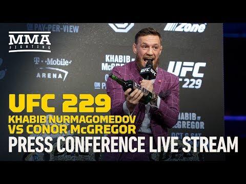 Xxx Mp4 UFC 229 Khabib Nurmagomedov Vs Conor McGregor New York Press Conference Live Stream MMA Fighting 3gp Sex