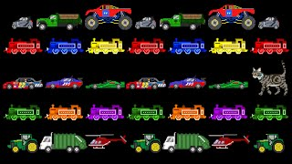 Vehicle Patterns 3 - ABC Patterns - Street, Railway & Emergency Vehicles  - The Kids