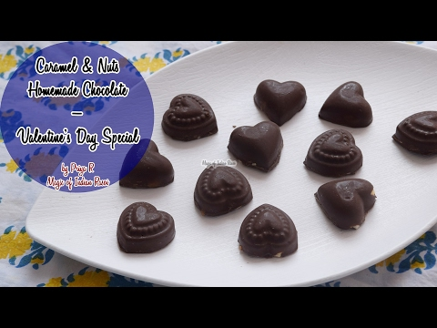 Caramel & Nuts Homemade Chocolate | Valentine's Day Special | Priya R | Magic of Indian Rasoi
