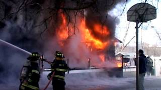 Saddle Brook NJ Fire Dept Fully Involved House Fire 205 Adriana St (Full Video) April 25th 2011