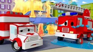 Franck the Firetruck needs help ! - Amber the Ambulance in Car City 🚓 🚒  l Cartoons for Children