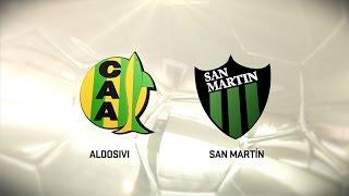 Fútbol en vivo. Aldosivi vs. San Martín SJ. Fecha 7. Torneo de Primera División 2016/2017. FPT